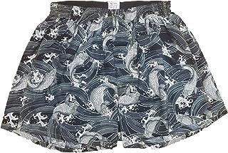 [稲田布帛工業所] トランクス 日本製 和柄 メンズ 下着 パンツ 鯉柄 (紺色 水色 黒色)