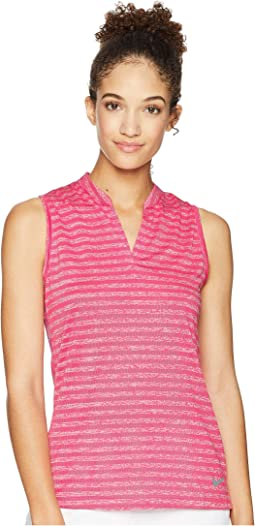 Zonal Cooling Polo Sleeveless Jacquard
