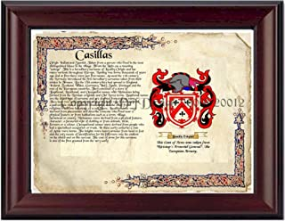 Casillas Coat of Arms/ Family Crest on Fine Paper and Family History