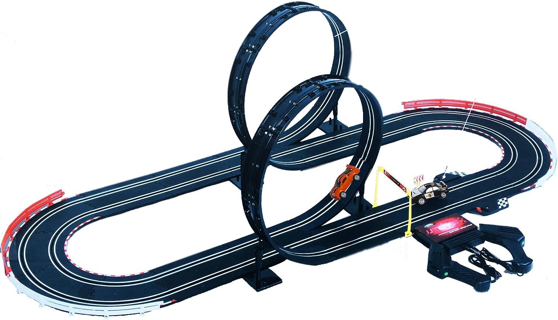 Circuit de Voitures /électriques avec Loopings 2 Voitures 565 cm