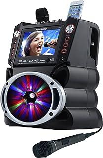 "Karaoke USA GF845 Complete Karaoke System with 2 Microphones, Remote Control, 7"" Color.."
