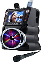 "Karaoke USA GF845 Complete Karaoke System with 2 Microphones, Remote Control, 7"" Color.."