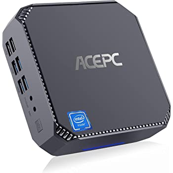 Mini PC, ACEPC CK2 Intel Core i5-7200U Micro computadora de Escritorio con Windows 10 Pro, 8 GB de RAM + 128 GB SSD, Salidas VGA + HDMI + Mini DP, Compatible con WLAN de Doble Banda/BT 4.2…