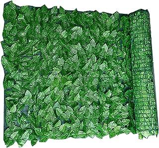 ZSH Konstgjord murgröna staket screening konstgjorda häckar paneler rulle med blad, trädgård integritet skydda skärmar dek...