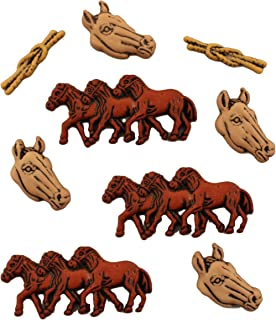 Buttons Galore Craft & Sewing Buttons - Horses - 3 Packs (27 Buttons)