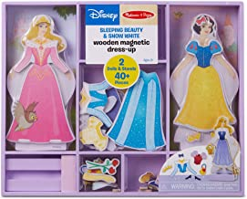 Melissa & Doug Sleeping Beauty and Snow White Wooden Magnetic Dress-Up Play Set