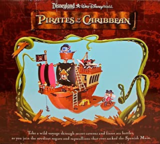 Disney Deluxe Mickey Mouse Pirates of the Caribbean Pirate Ship Playset,Ages3+,N