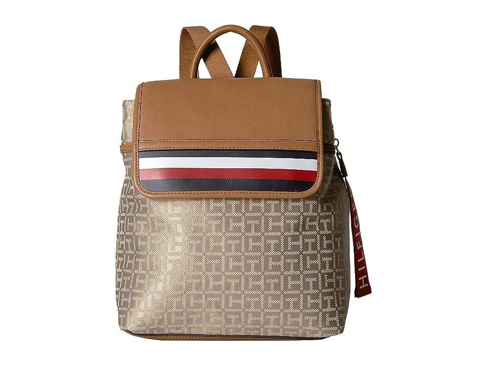 Tommy Hilfiger Gianna Backpack (Khaki/Tonal) Backpack Bags