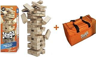 Jenga Giant Genuine Hardwood Game & Carry Bag (Bundle) (Stacks to 4+ feet. Ages 8+)