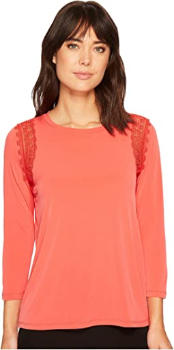 Ivanka Trump - Matte Jersey Lace Arm Hole Top