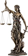 Top Collection Large Blindfolded Lady Justice Statue Holding Scales of Justice and Sword - Roman Goddess of Law Sculpture in Premium Cold Cast Bronze- 29-Inch Museum Grade Collectible Figurine