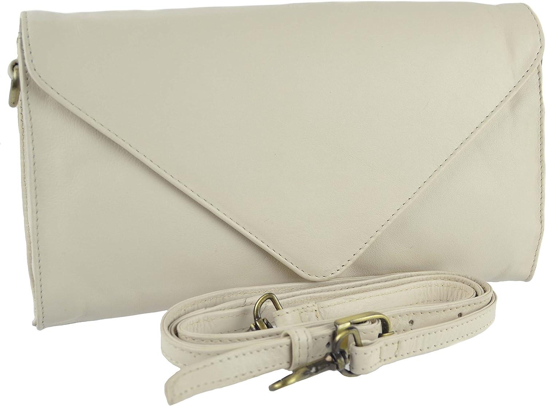 GIGI Women'S Leather Envelope Clutch Handbag