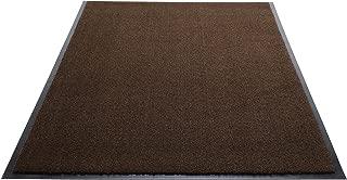 Guardian Silver Series Indoor Walk-Off Floor Mat, Vinyl/Polypropylene, 3'x5', Walnut