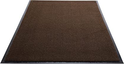 Guardian Silver Series Indoor Walk-Off Floor Mat, Vinyl/Polypropylene, 4'x6', Walnut