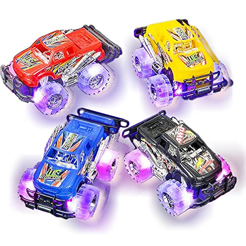 74692caabe512 Light Up Monster Truck Set for Boys and Girls by ArtCreativity - Set  Includes 2