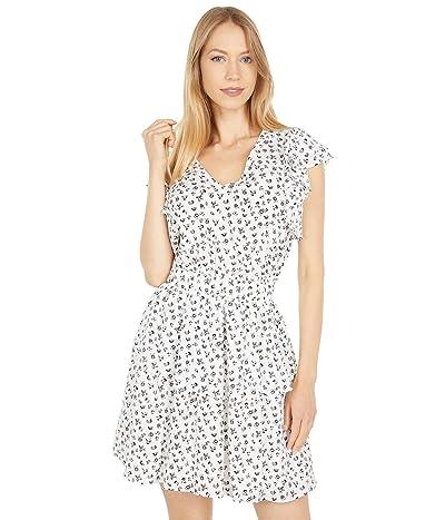1.STATE V-Neck Smocked Ruffle Dress