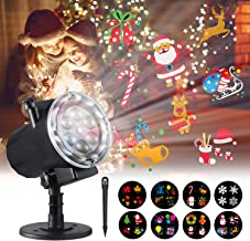 Halloween Christmas Projector Lights,Oittm 12 Slide Patterns High Brightness LED Landscape Lights Waterproof Outdoor Indoor Decoration Lighting for Xmas Theme Party Wedding Thanksgiving Birthday Party