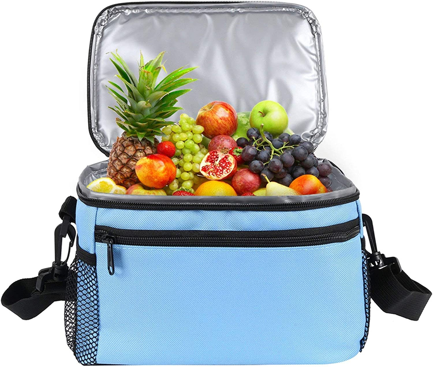 Big Capacity Waterproof Cooler Bag Large Picnic Box Vehicle Insulated Cool Bags Ice Pack Fresh Insulation Handbags 12L,bluee