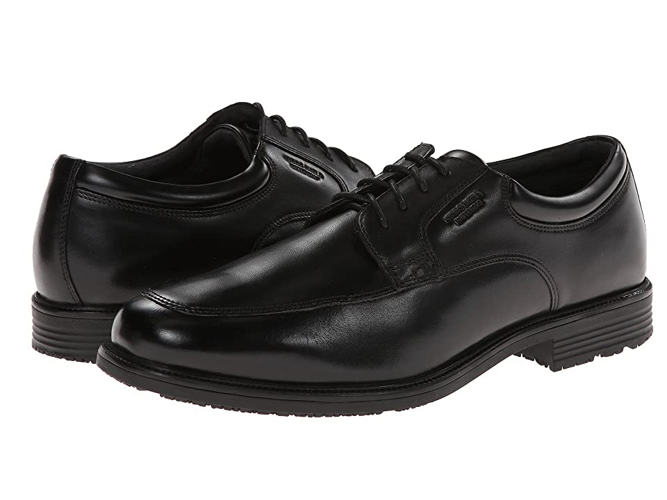 Rockport Lead The Pack Apron Toe (Black WP Leather) Men