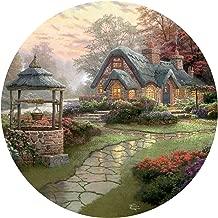 Thomas Kinkade Make A Wish Cottage Round Puzzle - 500Piece