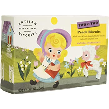 Artisan Biscuits Two by Two Mary Had A Little Lamb Peach Biscuits, 100 g