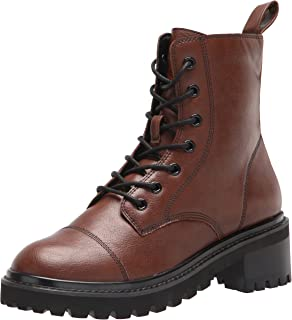 The Drop Women's Sparta Chunky Sole Lace Up Combat Boot