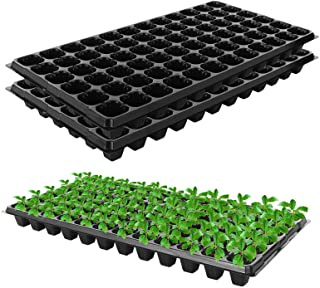32-Cells Plant Grow Starting Germination Kit Seed Planting Insert Plug Tray for Plant Seeds Flower Happyshop 18 Seedling Starter Trays Plant Nursery Trays Pack of 5 Seed Growing Trays