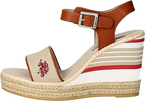 U.s. Polo, NYMPHEA SAND-NAT, Sandalia beige de mujer