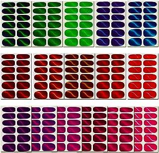 16 Sheets Glitter Cat Eye Nail Wraps, Full Nail Art Polish Stickers Self-Adhesive Nail..