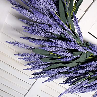"idyllic Lavender Wreath Wedding Decoration Purple 26"" Artificial Floral Spring Wreath Green Leaves Home Wall Decor"