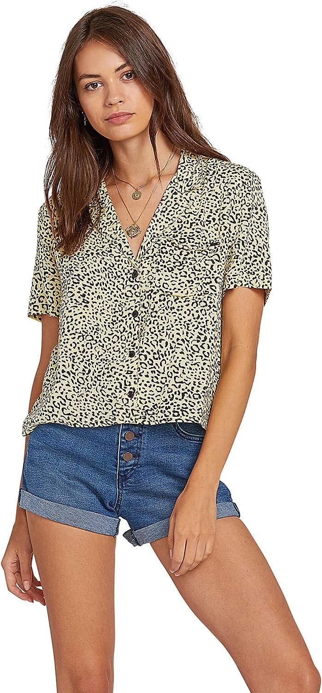 Volcom Women's Gen Wow Slight Crop Boxy Short Sleeve Shirt