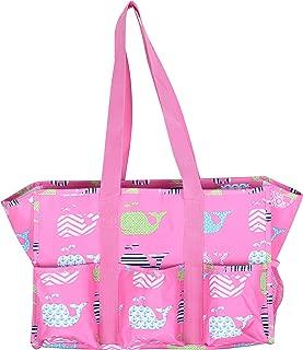 Fashionable Zipper Top Organizing Beach Bag Tote Diaper Bag Weekender
