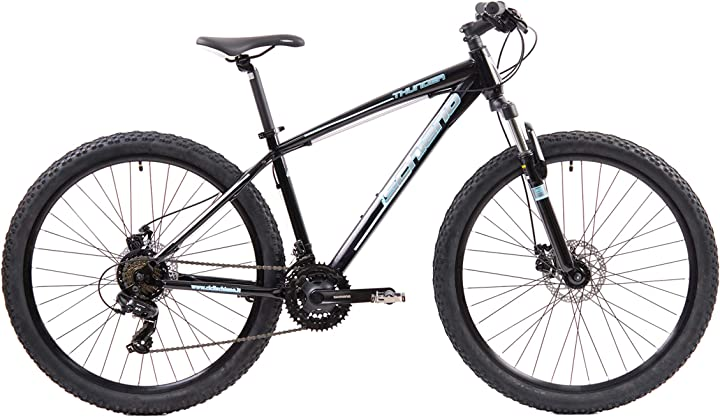 Mountain bike f.lli schiano thunder, bici mtb uomo, nero-blu, 27.5