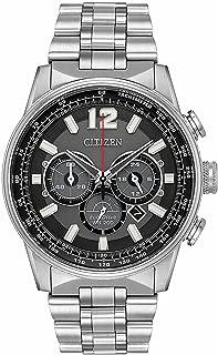 Citizen Nighthawk Eco-Drive Black Dial Men's Watch CA4370-52E