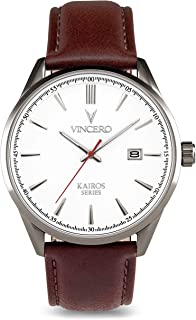 Vincero Luxury Men's Kairos Wrist Watch - Top Grain...