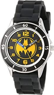 Batman Kids' Analog Watch with Silver-Tone Casing, Black...