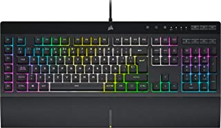 Corsair K55 RGB PRO XT Teclado para Juegos con Teclas de Membrana, Retroiluminación RGB Dinámica, 6 Teclas Macro con Integ...