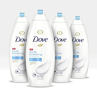 Dove Body Wash For Dull Skin Gentle Exfoliating Sulfate Free Bodywash 22 oz 4 count