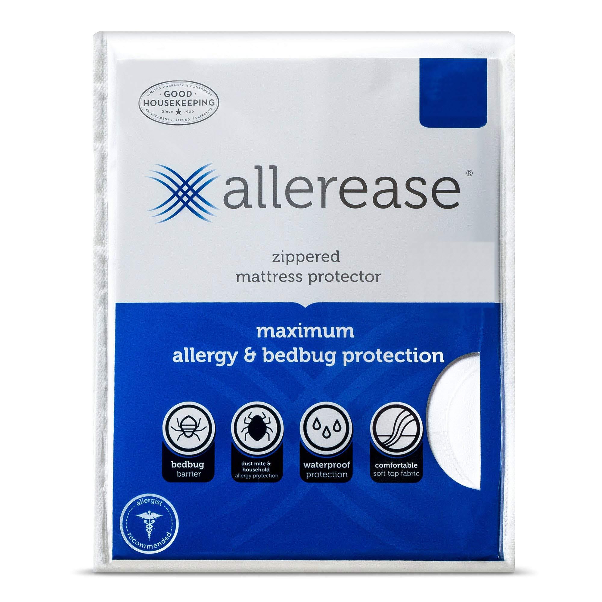 AllerEase Waterproof Zippered Mattress Protector