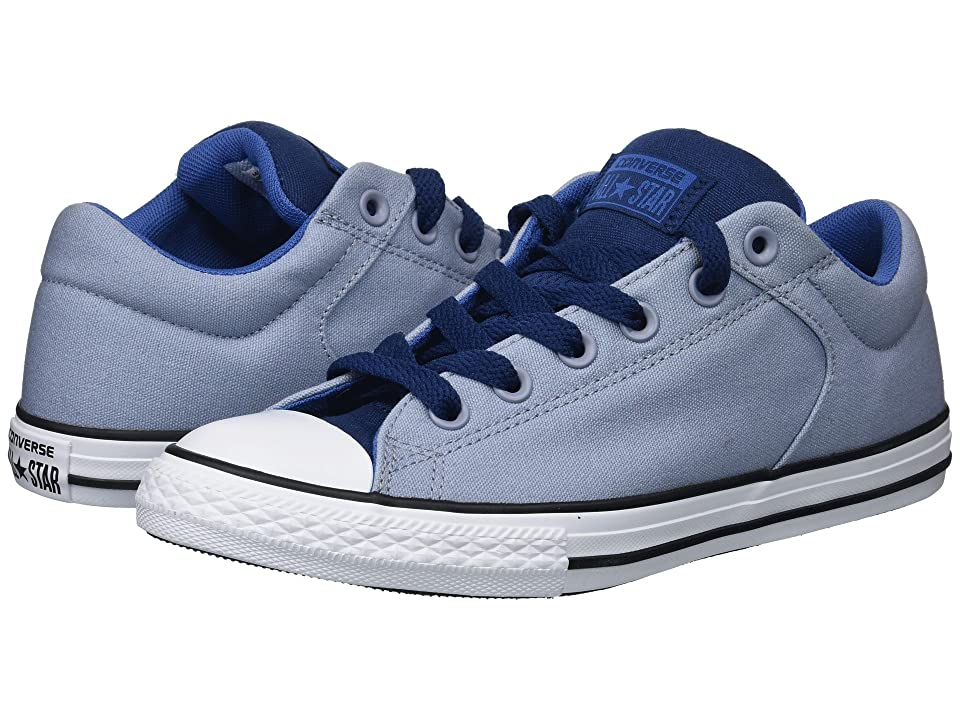 Converse Kids Chuck Taylor All Star High Street Slip (Little Kid/Big Kid) (Glacier Grey/Navy/Nightfall Blue) Boy