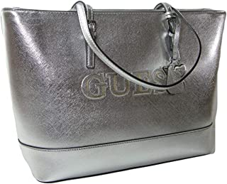 67d171508c6a New Guess Logo Signature Purse Extra Large Tote Hand Bag Black   White  Chandler