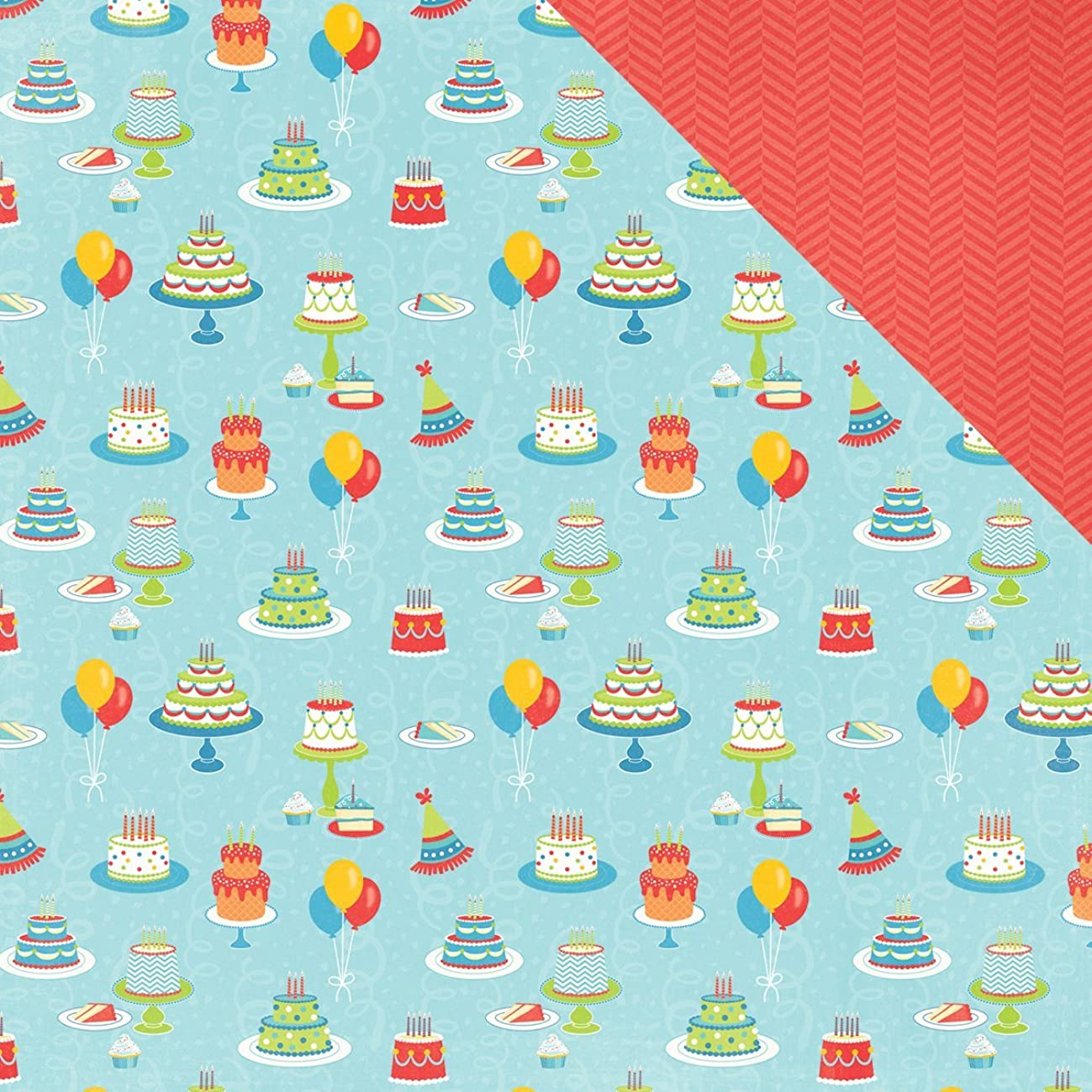 Photo Play Paper PB2160 25 Sheet Cakes Party Boy Double-Sided Cardstock, 12