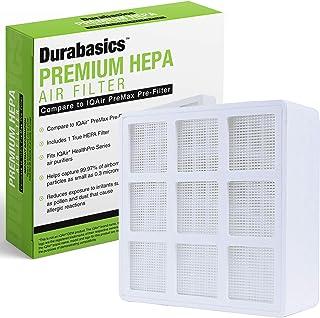 Durabasics IQ Air PreMax HealthPro Air Purifier Series Compatible HEPA Filter Pre-Filter Cartridge - Removes 99.97% of Dust, Pollen, Fine Particulates, Vapor, Pet Dander