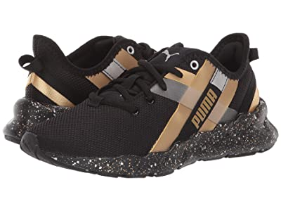 Puma Kids Weave XT Speckle (Big Kid) (Puma Black/Puma Team Gold) Boys Shoes