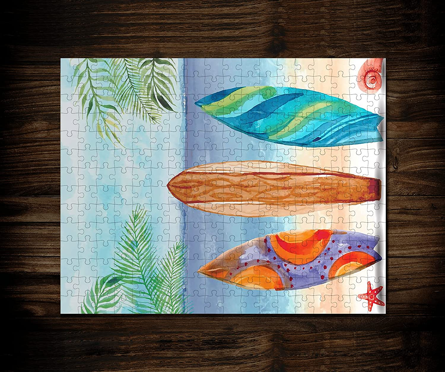 Logic Puzzles Albuquerque Mall - New mail order Hawaii Surf Theme Jigsaw 3D 252 Pieces-