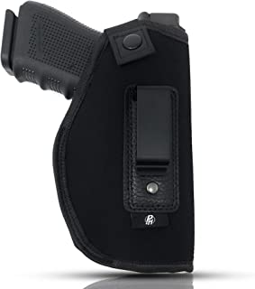 IWB Gun Holster by PH - Concealed Carry Soft Material | Fits All Firearms S&W M&P Shield 9mm / .40 | 1911 Models | Taurus PT111 G2 | Sig Sauer | Glock 19 17 27 43 | Beretta | Walther
