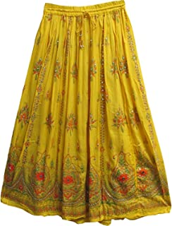 2bb60fcab6 Whitewhale Womens Long Skirt India Traditional Clothing Designer for Spring  Summer