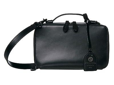 Lodis Accessories Audrey RFID Sally Zip Around Crossbody (Black/Black) Cross Body Handbags