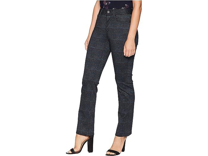 NYDJ Womens Petite Ponte Marilyn Straight Pant Black 2P
