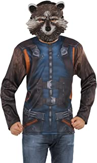 Rubie's Men's Marvel Guardians of the Galaxy Vol. 2 Rocket Costume Top and Mask, X-Large